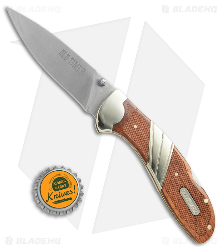 Old Timer Large Lockback Folding Knife Wood 3 3 Quot Satin