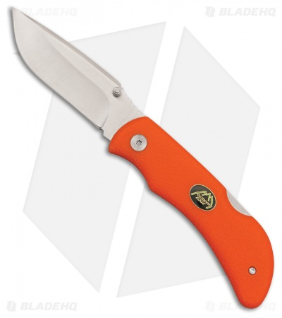 "Outdoor Edge Grip-Blaze Lockback Knife Orange TPR (3.2"" Satin)"