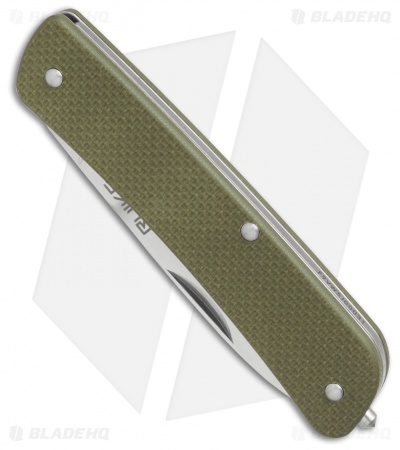 "RUIKE L11 Criterion Collection Large Slip Joint Knife Green G-10 (3.5"" Satin)"