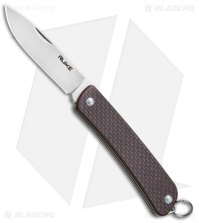 "RUIKE S11 Criterion Collection Compact Slip Joint Knife Brown G-10 (2"" Satin)"