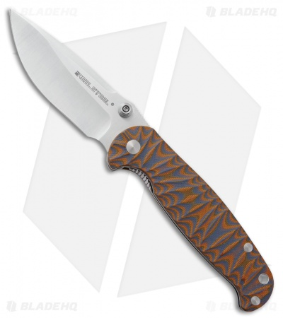 "Real Steel H6 Special Edition II Liner Lock Knife Orange/Blue (3.75"" Satin)"