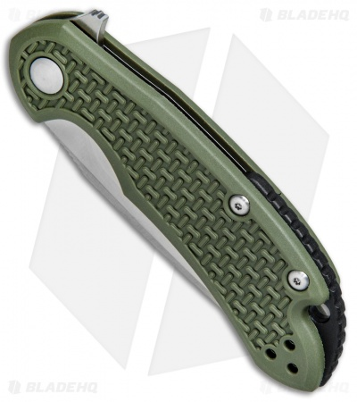 "Steel Will Knives Cutjack Mini Flipper Knife OD Green FRN (3"" Satin) C22M-1OD"
