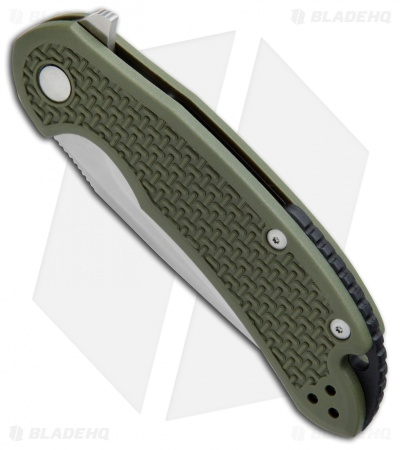 "Steel Will Knives Cutjack Flipper Knife OD Green FRN (3.5"" Satin) C22-1OD"
