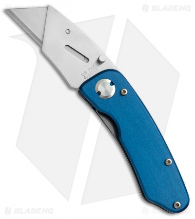 "SuperKnife Ultimate Utility Liner Lock Knife Blue Aluminum (2.4"" Satin)"