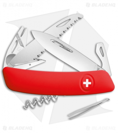 "Swiza TT05 Tick Tool Swiss Pocket Knife Red (3"" Satin)"