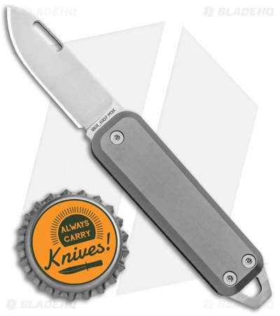 "James The Elko Slip Joint Keychain Knife Titanium (1.6"" Satin)"