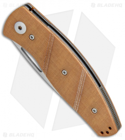 "Three Rivers Manufacturing Viator Slip Joint Knife Micarta/Bronze (3"" Stonewash)"