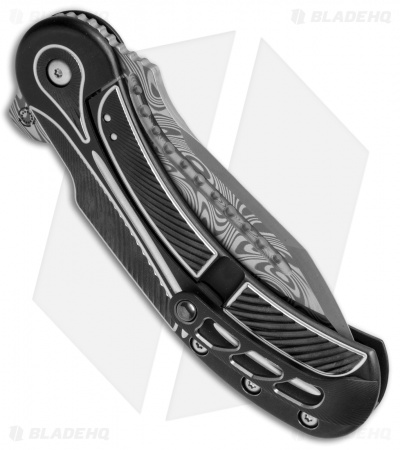 Begg Steelcraft Field Marshall Knife Black/Silver (Grosserosen Damasteel)