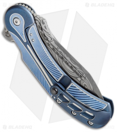 "Todd Begg Steelcraft Field Marshall Knife Blue/Silver (4"" Draupner Damasteel)"