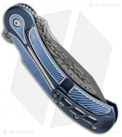 "Todd Begg Steelcraft Field Marshall Knife Blue/Silver (4"" Thor Damasteel)"