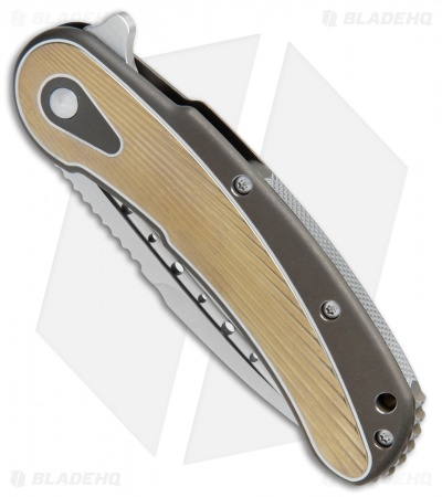 "Todd Begg Steelcraft Series Bodega Knife Gold/Bronze Fan Titanium (4"" Satin)"