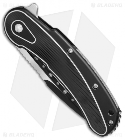 "Todd Begg Steelcraft Series Bodega Knife Black/Silver Titanium (4"" Two-Tone)"