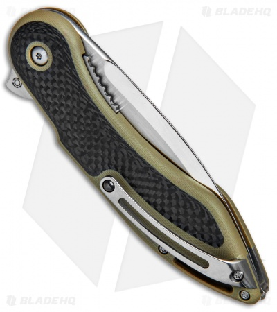 "Todd Begg Steelcraft Series Glimpse 7.0 Knife Tan G-10/CF (3.5"" Polish)"