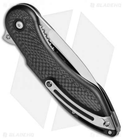 "Todd Begg Steelcraft Series Glimpse 7.0 Black G-10/CF (3.75"" Polish Fluted)"