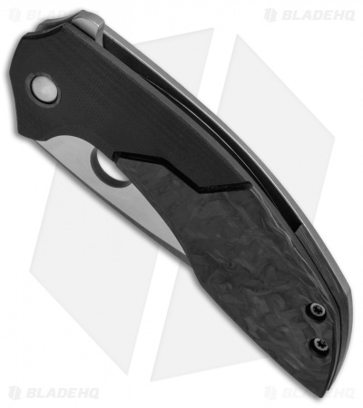 TuffKnives Geoff Blauvelt Custom Catalyst O Knife Marble CF/G-10 (Acid SW)