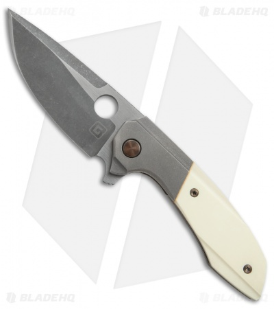 TuffKnives Geoff Blauvelt Custom Catalyst V Knife Westinghouse Micarta (Acid SW)