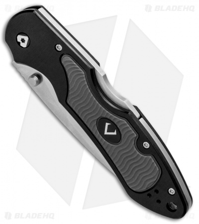 "V Nives Griptide Lockback Knife Black Aluminum/Rubber (3.25"" Satin)"