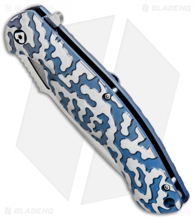 "V Nives Atmosphere Frame Lock Knife Blue Titanium (3.3"" Satin)"