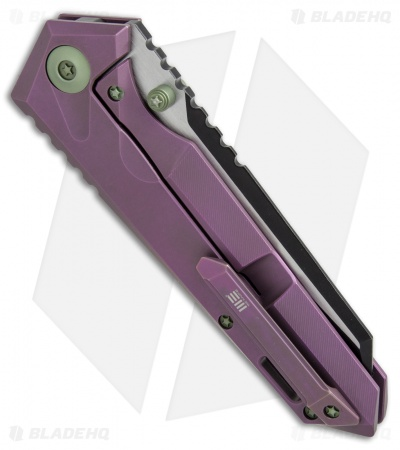 "WE Knife Co. 609A Frame Lock Knife Purple Titanium (4"" Two-Tone)"