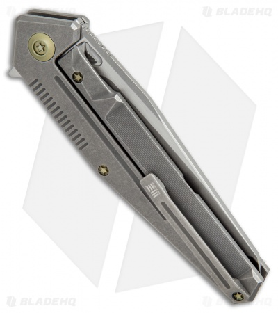 "WE Knife Co. 610H Frame Lock Knife Titanium (3.875"" Stonewash)"