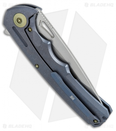 "WE Knife Co. 611D Frame Lock Knife Blue Titanium (3.75"" Stonewash)"