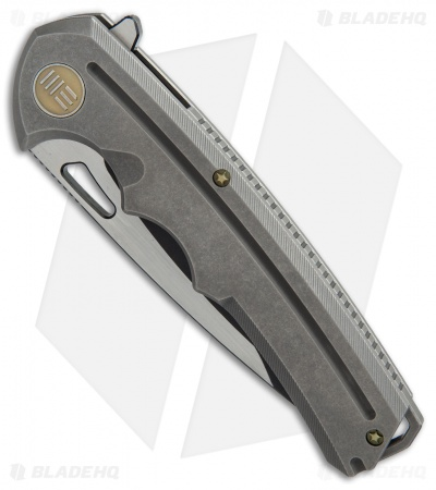 "WE Knife Co. 611G Frame Lock Knife Titanium (3.75"" Two-Tone)"