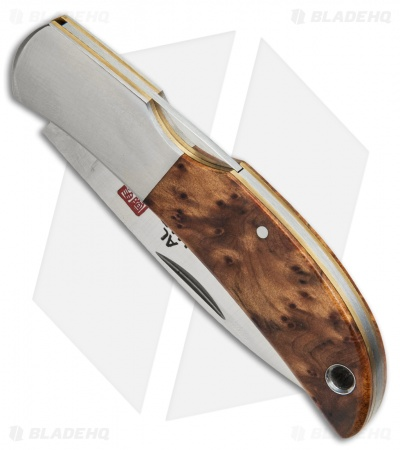 Al Mar Hawk Classic Briar Wood Folding Gentleman's Pocket Knife 1002BR