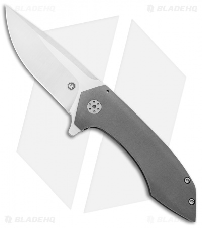 "Alliance Designs Vi Knives Mini Veneno Frame Lock Knife Titanium (3.125"" Satin)"