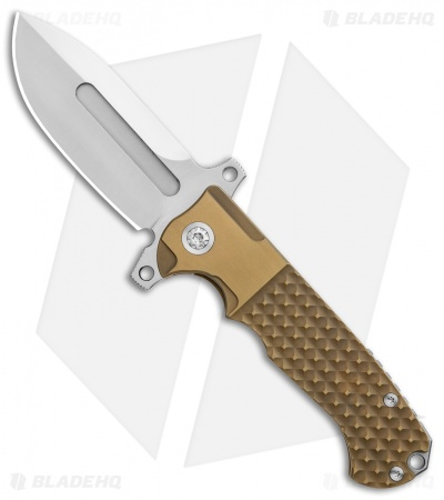 "Andre de Villiers Mid-Tech DF Frag Frame Lock Knife Gold Ti (3.88"" Satin) AdV"