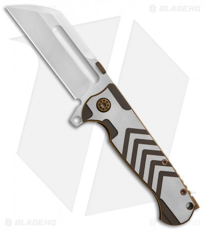 "Andre de Villiers Tac Butcher Frame Lock Knife Arrow Ti Gold Ano (4"" Satin)"