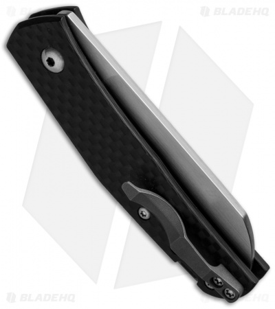 "Jens Anso Knives Custom Monte Carlo Pocket Knife Carbon Fiber (2.5"" Satin)"