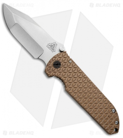 A.R.S. CFS Contractor Series Frame Lock Knife Coyote Brown G-10 (3.75 Tumbled)