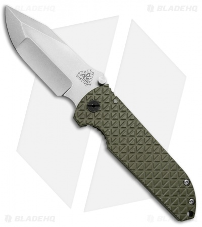 A.R.S. CFS Contractor Series Frame Lock Knife OD Green G-10 (3.75 Tumbled)