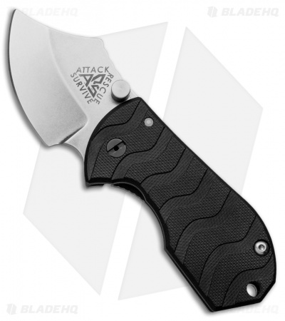 "A.R.S. Flip Shank Folder Black G-10 Knife (2"" Stonewash Plain)"