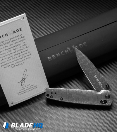 Benchmade Gold Class Valet AXIS Lock Knife (Damascus) 485-151