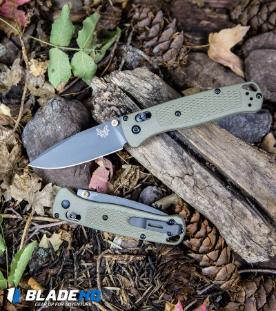 "Benchmade Bugout AXIS Lock Knife Ranger Green (3.25"" Gray Serr) 535SGRY-1"