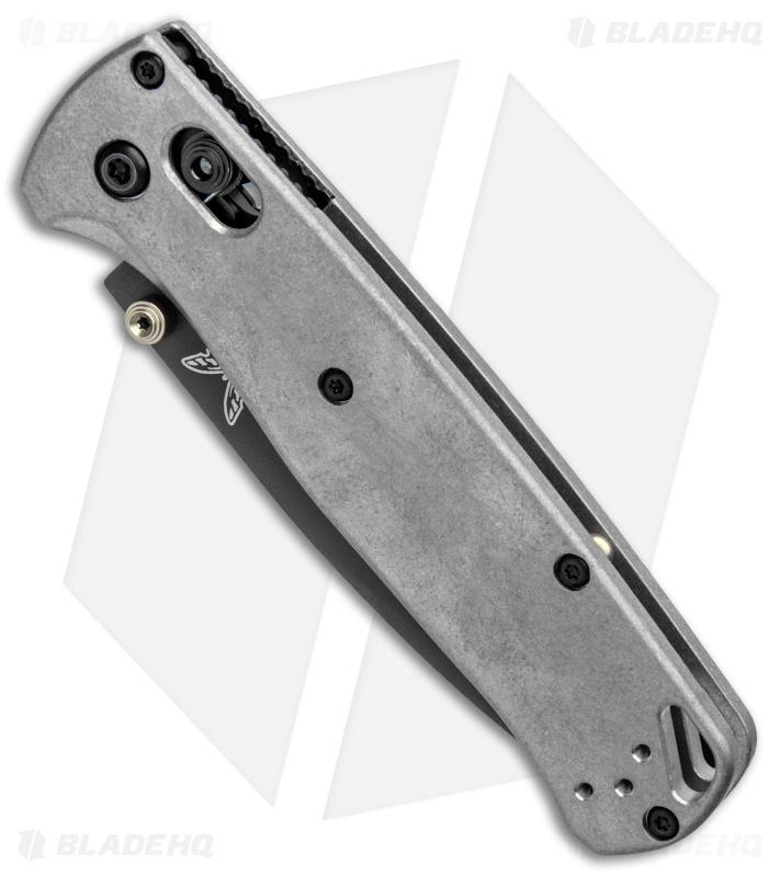 Benchmade Bugout Knife + Flytanium Titanium Scales (Gray)
