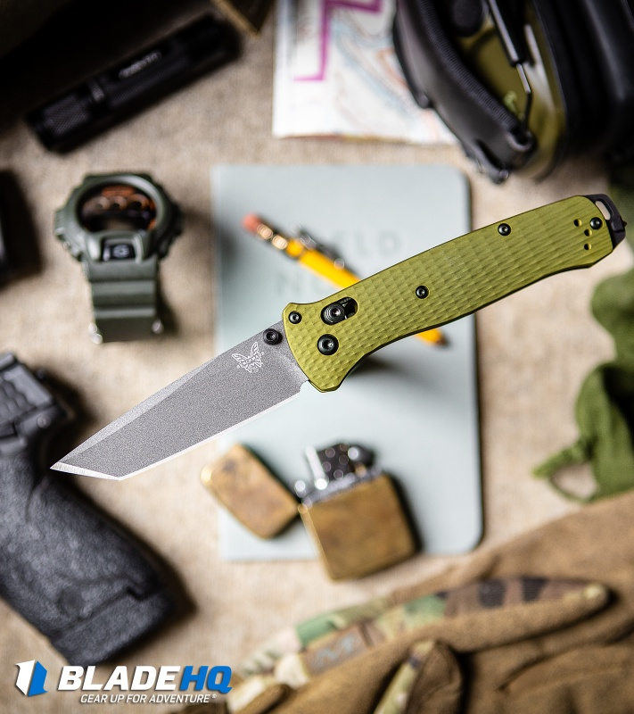 "Benchmade  Bailout AXIS Lock Knife Green Aluminum (3.4"" Gray M4)  537GY-1"