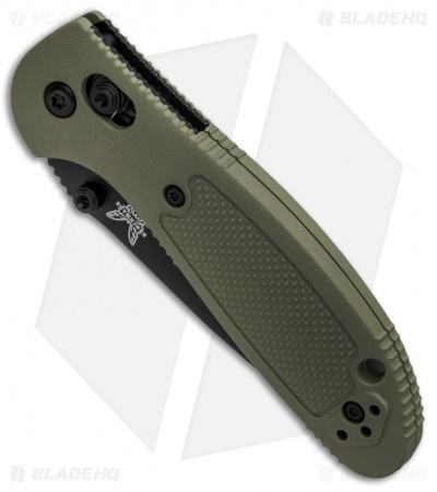 "Benchmade Mini Griptilian AXIS Lock Knife Olive Drab (2.91"" Black) 556BKOD-S30V"