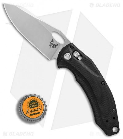 "Benchmade Mini Loco AXIS Lock Knife Black G-10 (3.38"" Stonewash) 818"