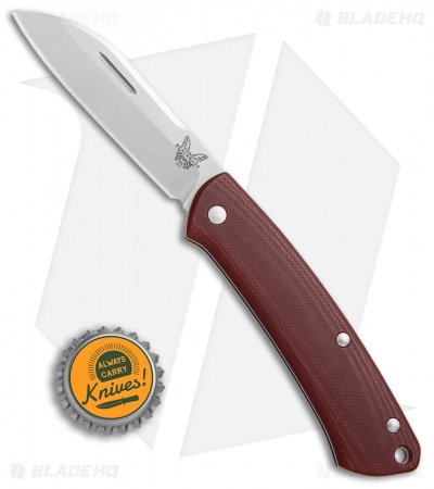"Benchmade Proper Slip Joint Knife Red G-10 (2.8"" Satin) 319-1"