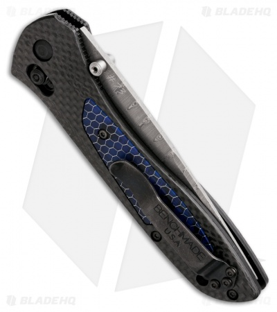 "Benchmade Gold Class 710-141 Knife Carbon Fiber C-Tek (3.9"" Damasteel)"