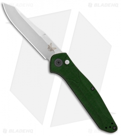 "Benchmade Osborne 9400 Automatic Knife Green Aluminum (3.4"" Satin)"
