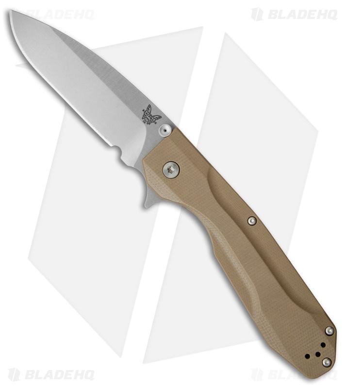 Benchmade Osborne Proxy Flipper Framelock Knife Tan G-10/Ti (3 87