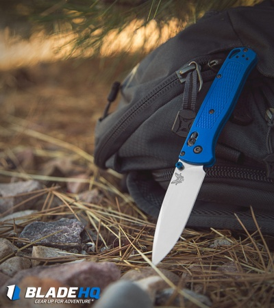 "Benchmade Bugout AXIS Lock Knife Blue (3.24"" Satin) 535"