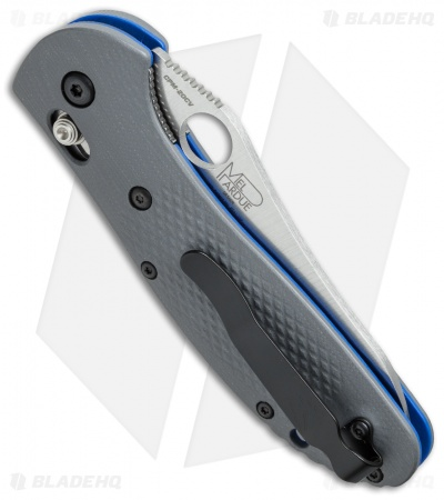 "Benchmade Griptilian PROTOTYPE 550-1 AXIS Lock Knife Gray/Blue (3.45"" Satin)"