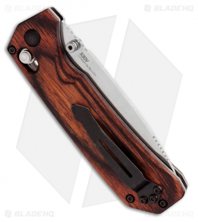 Benchmade Grizzly Creek Folder Wood AXIS Lock Knife w/ Gut Hook 15060-2