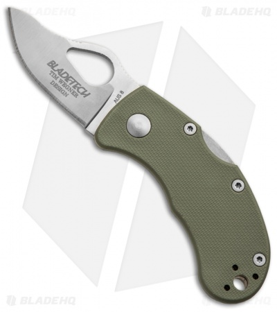 "Blade-Tech Mouse-Lite Lock Back Knife Green FRN (1.94"" Satin)"