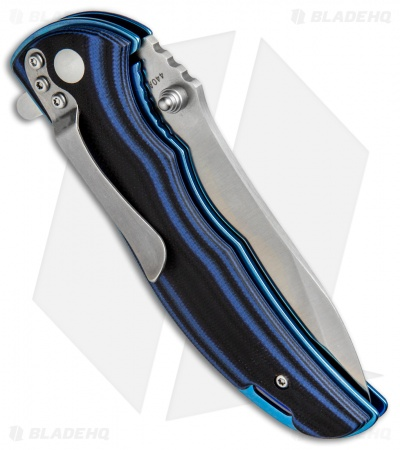 "Boker Magnum Blue Line Liner Lock Knife Blue/Black G-10 (3.6"" Satin) 01SC001"