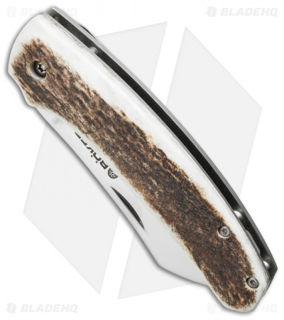 "Boker Haddock Stag Horn Frame Lock Knife (3.375"" Satin) Jens Anso 110917"